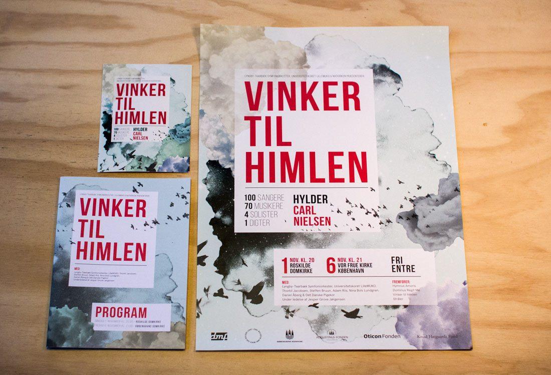 vinker til himlen - postkort, plakat & program